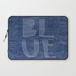 Blue Jeans denim typography Laptop Sleeve