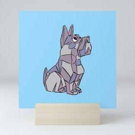 Cubist Puppy Dog Cartoon Illustration Mini Art Print