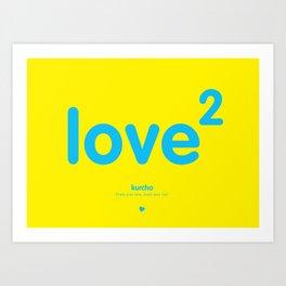 Squared love Art Print