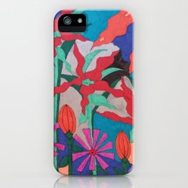 Bold Garden Night Party iPhone Case