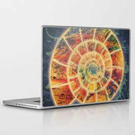 Abstract Colorful Ocean Nautilus Shell Laptop & iPad Skin