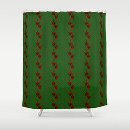 Season's Greetings from the Krampus Shower Curtain