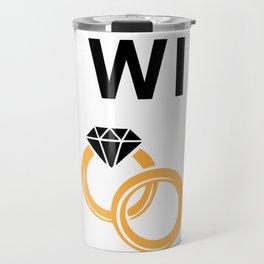 Wife 13th Anniversary Gift, Women's Wedding Present Print Travel Mug