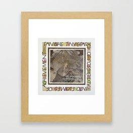 Fan The Sparks Framed Art Print