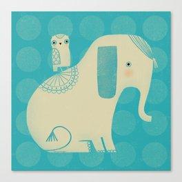 OWL & ELEPHANT Canvas Print