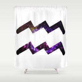 Galactic Aquarius Shower Curtain