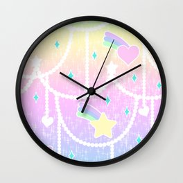 Beads and Stickers Wall Clock