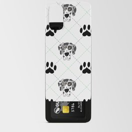 Merle Great Dane Paw Print Pattern Android Card Case