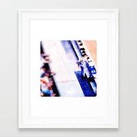 dj Framed Art Prints featuring dj by Ricochet  Elm  Studio