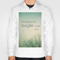 imagine Hoodies featuring Imagine by Olivia Joy StClaire