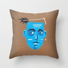 Primitive Face Throw Pillow