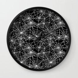 Midnight Cobwebs Wall Clock