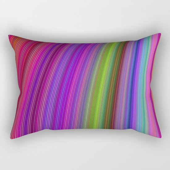 Happy spring stripes Rectangular Pillow