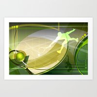 tennis Art Prints featuring Tennis by Robin Curtiss