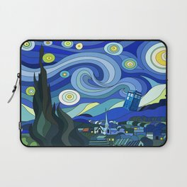 Tardis Art Starry Night Laptop Sleeve