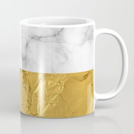 Gold Foil and Marble Coffee Mug
