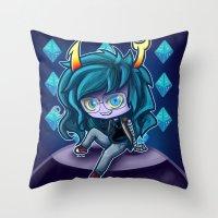 homestuck Throw Pillows featuring Virska  Serket - Homestuck by Kapika Arts