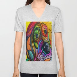 Hound Dog Unisex V-Neck