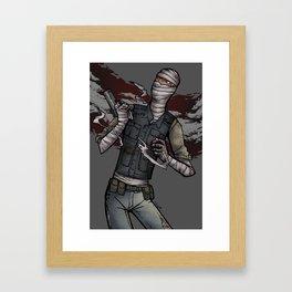 Burned Man Framed Art Print