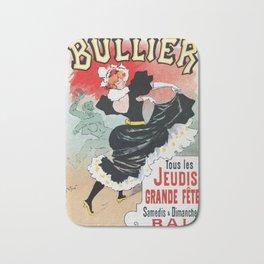 Bullier French dance hall days Bath Mat