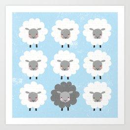 Be Ewe Art Print