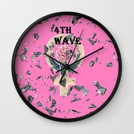 4th  Wave Feminism -Shattered Wall Clock