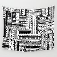 tribal Wall Tapestries featuring Tribal  by Ale Ibanez