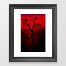 Red Chasm Framed Art Print