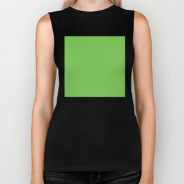 GREEN FLASH PANTONE 15-0146 Biker Tank