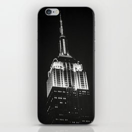 Dramatic Empire State Building in New York City at night iPhone Skin