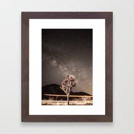 Joshua Tree Milky Way Framed Art Print