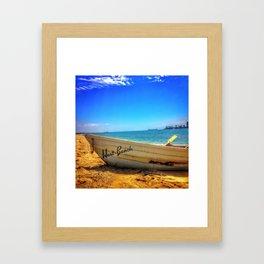 Row Boat at Long Beach California Framed Art Print