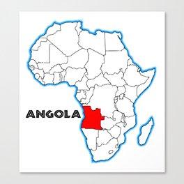 Angola Canvas Print