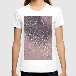 Sparkling Mauve Lady Glitter #3 #shiny #decor #art #society6 T-shirt