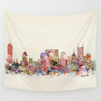tennessee Wall Tapestries featuring music city tennessee by bri.buckley