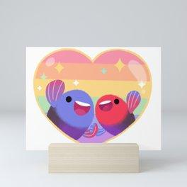 Rainbow guppy 8 Mini Art Print