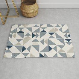Retro MCM Triangle Wallpaper Rug