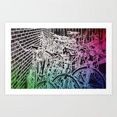bike yard 1 Art Print