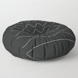 between waves Floor Pillow