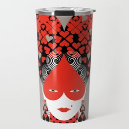 The queen of hearts Travel Mug
