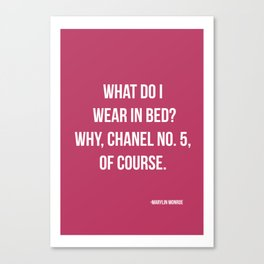 What Do I Wear In Bed? Canvas Print
