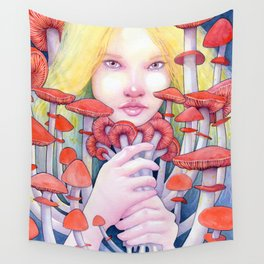 Keeper of the Scarlet Garden Wall Tapestry