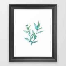 Bamboo Leaves Framed Art Print