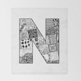 Cutout Letter N Throw Blanket