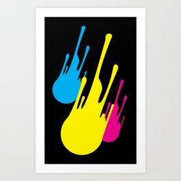 CMYKomet Art Print