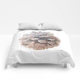 Pinecone Watercolor Art Comforters
