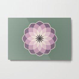 Lavender Medallions Metal Print