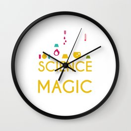 science its like magic but real Wall Clock