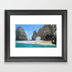 Los Arcos, Lands End Arch, Mexico Framed Art Print