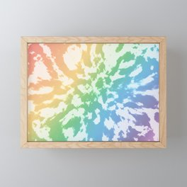 Rainbow Tie-Dye Framed Mini Art Print